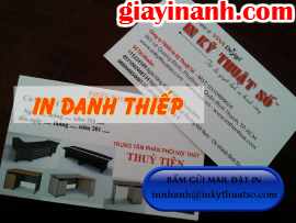 In danh thiếp TPHCM, in card visit, in business card giá rẻ HCM