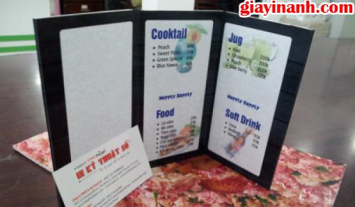 In menu vải chất lượng cao, in ấn đẹp ngay tại InGiayAnh