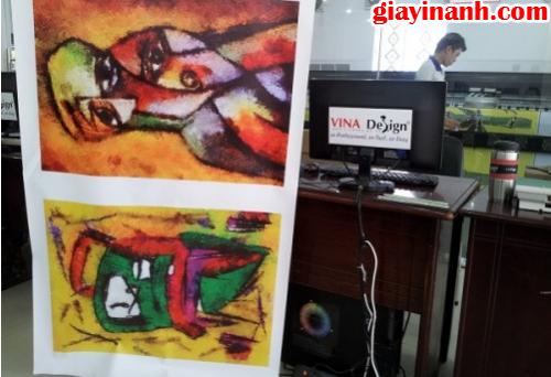 in tranh khổ lớn chất liệu canvas