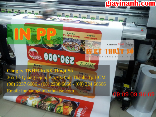 In PP giá rẻ HCM tại Công ty TNHH In Kỹ Thuật Số - Digital Printing ltd